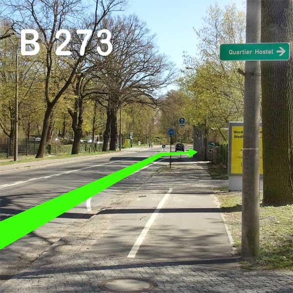 B 273 in Richtung Innenstadt Abb. 2