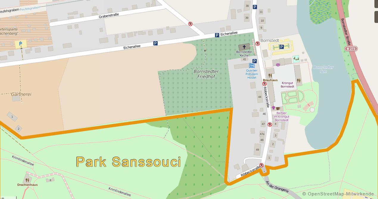 öffentliche Parkplätze Ribbeckstraße - Eichenallee