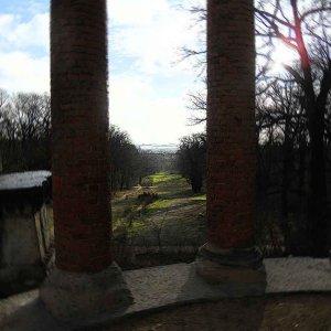 Der Ruinenberg - die nördliche Sichtachse vom Schloss Sanssouci