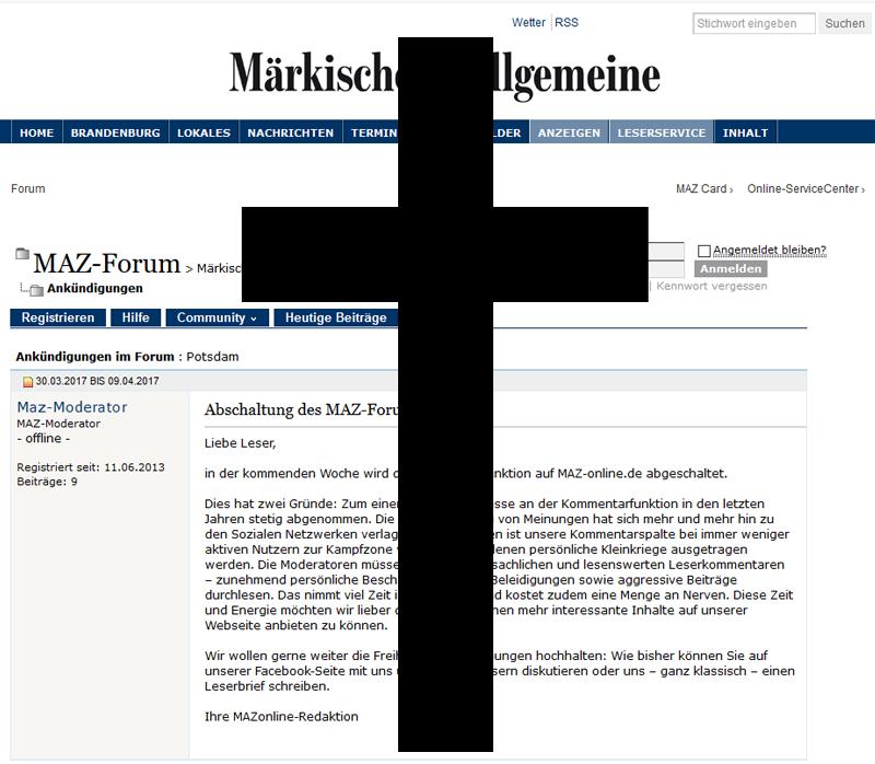 Forum Märkische Allgemeine Brandenburg