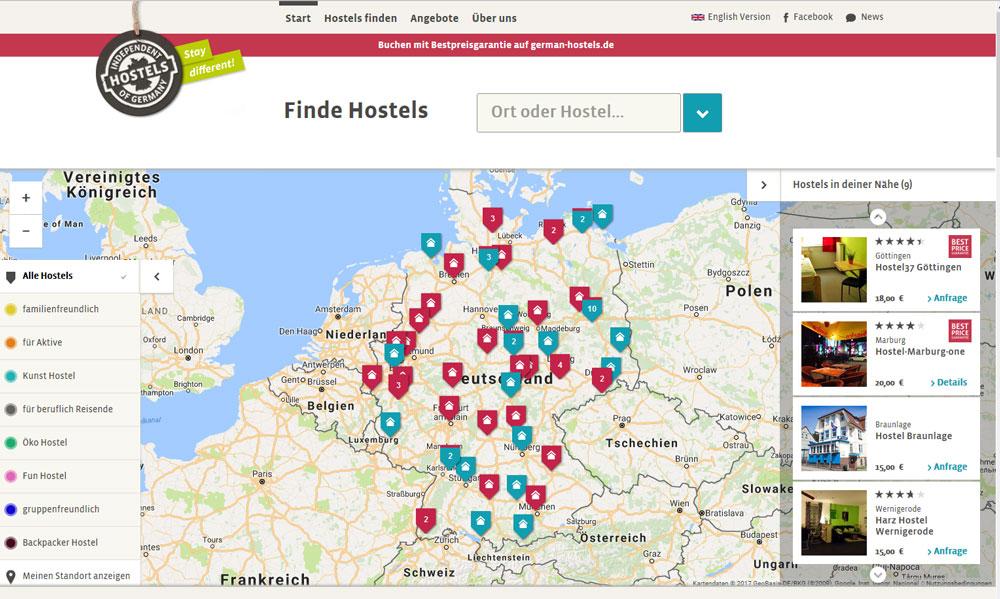 www.german-hostels.de