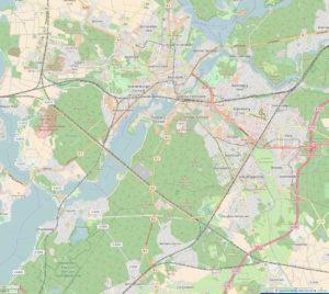 Umgehungsstraße Potsdam - Eiche/Golm - Wildpark - B1 - B2 - Nutheschnellstraße