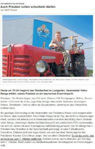 Oktoberfest - die Subkultur aus Bayern - Glabalisierung in Deutschland