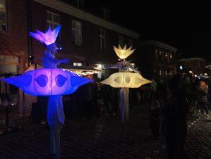 Lichtfeen im Holländichen Viertel