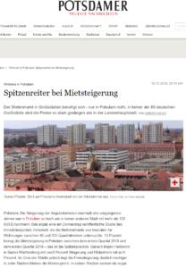 PNN 18.10.2019 - PNNPotsdam - Wohnen in Potsdam: Spitzenreiter bei Mietsteigerung